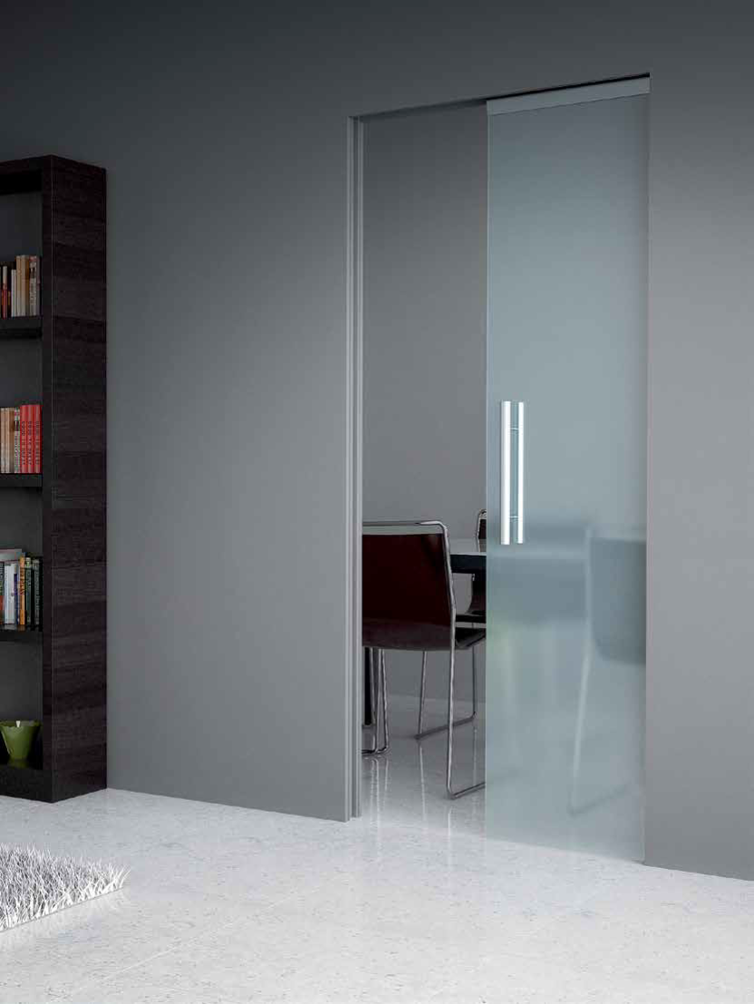 glaze ab ermetika contre ch ssis bloc porte invisible. Black Bedroom Furniture Sets. Home Design Ideas